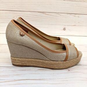 Tory Burch Majorca Espadrille Wedge Shoes